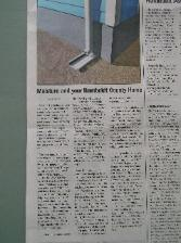 Photo of article in the paper